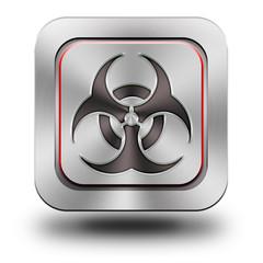 Biohazard aluminum glossy icon