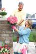 Gardening couple.