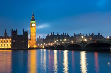 Westminster Bridge with Big Ben , London
