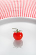 Cherry tomato on plate