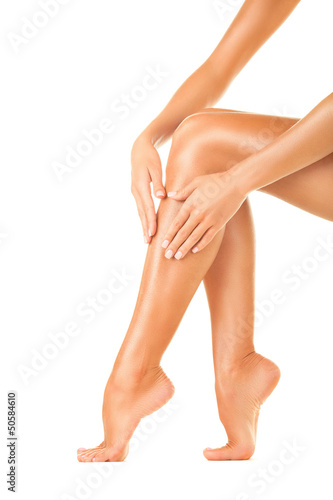 Legs after depilation