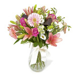 Fototapety bouquet of pink flowers isolated on white
