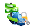 global protection earth concept illustration