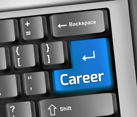 "Keyboard Illustration ""Career"""