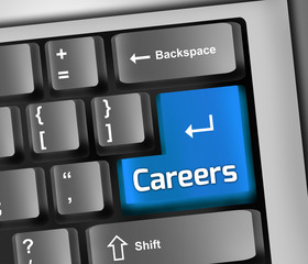 "Keyboard Illustration ""Careers"""