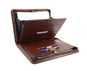 Luxury business brown folder