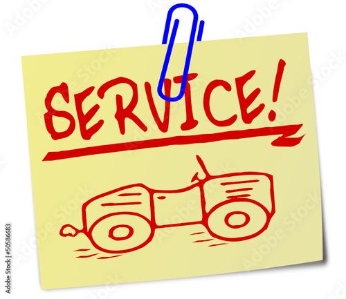 Service Auto Schild  #130319-svg01