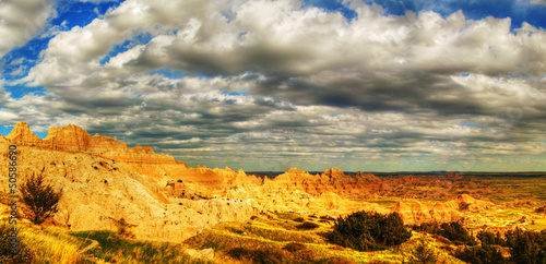 Scenic view at Badlands National Park, South Dakota, USA