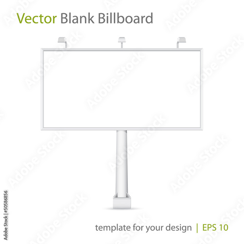 Vector blank Billboard on white background. Eps 10