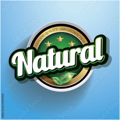 Hundred percent vector natural label