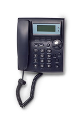 modern black phone call ord isolated on white background