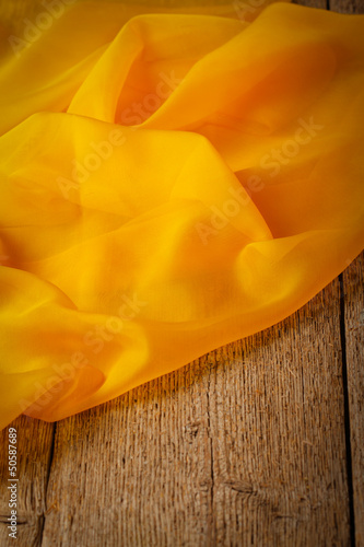 Yellow silk scarf