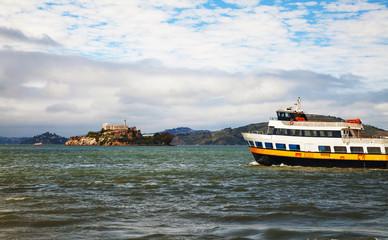 Alсatraz island in San Francisco bay, California
