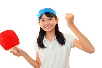 スポーツを楽しむ女の子