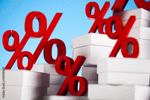 Concept of discount, Percent sign
