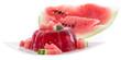 Watermelon Jello on white