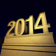 2014 Silvester in gold