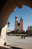View to Mariacki church, Krakow