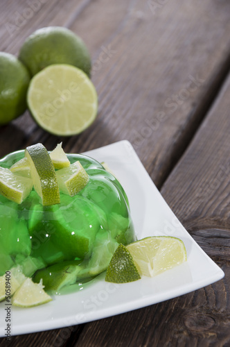 Lime Jello with fresh fruits