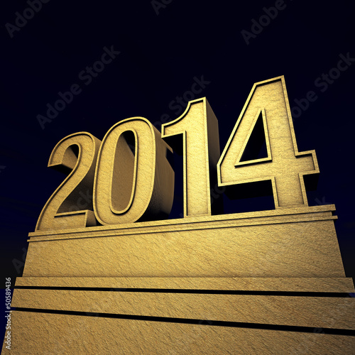 2014 Silvester in gold