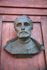 A bust on the door of Mariacki door