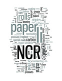 NCR paper roll with other necessities such as register tape. poster