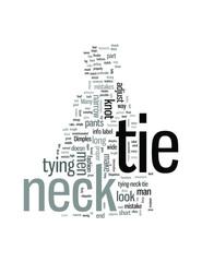 Neck tie Etiquettes