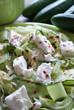 Fresh Mediterranean salad close-up