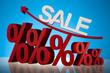 Sale or finance concept, Percent
