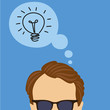 illustration of thinking idea