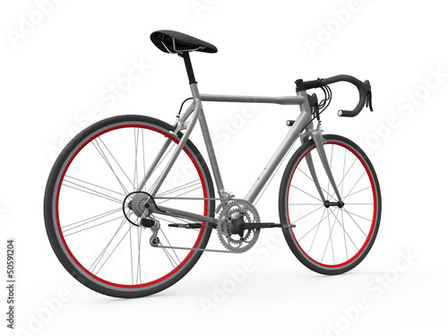 Speed Racing Bicycle Isolated on White Background