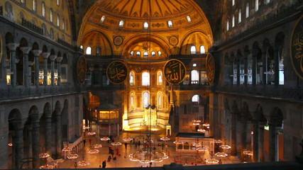hagia sofia museum interior in istanbul turkey