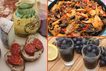 Cuisine Espagnole - Paella  Tapas  Sangria