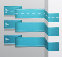 Modern blue vector banner (Items for Web / Business Design)