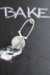 Sieve and icing sugar