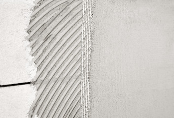 Wall plaster mesh and glue