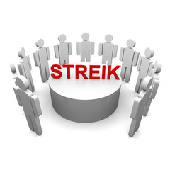 streik, streiken, demonstration,