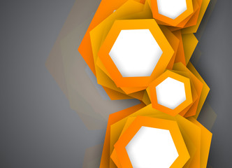 Background with orange hexagons