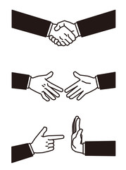ボディパーツ握手