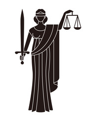 司法 のシンボル正義の女神
