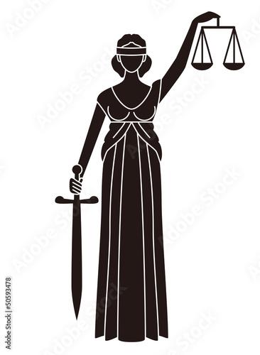 司法のシンボル正義の女神