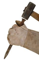 Meißel und Hammer