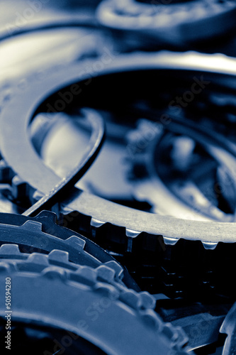 close up image of automobile gear assembly