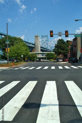 pont et passage piéton de Philadelphie