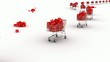 Supermarket trolley. Holiday Shopping Intro. 3D animation