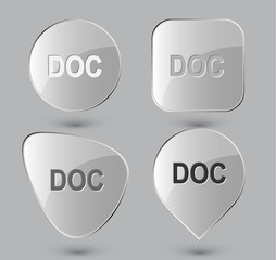 Doc. Glass buttons. Vector illustration.