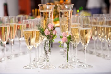 Two wedding glasses