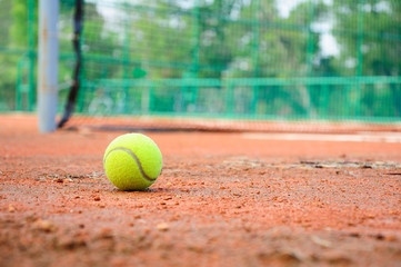 Tennis ball at tennis court