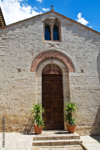 Church of St. Martino. Spello. Umbria. Italy.