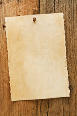 Old rustic aged wanted cowboy sign on parchment